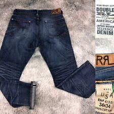 Ralph Lauren Double RL Slim Boot Cut Japanese Selvedge RRL Old Blue Jeans 34x34