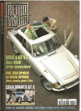 RETROVISEUR N°117 MGC & GT V8 / FIAT 850 SPIDER ET SIATA SPRING / BUGATTI 57 C