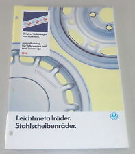 Teilekatalog Alufelgen Audi + VW Polo / Derby / Golf 1 + 2 / Scirocco Stand 1988