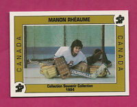RARE 1993 MANON RHEAUME PEEWEE TOURNAMENT # 002 LIMITED DANONE FOOD CARD