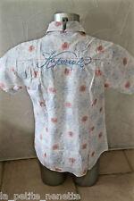 bonito camisa de manga corta blanco KAPORAL 5 talla M EXCELENTE ESTADO