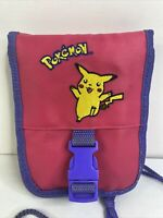 Vintage Pink Pokemon Pikachu Nintendo Gameboy Color Carrying Case Travel Bag!