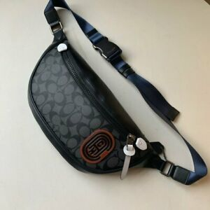 Coach F79037 Men's Belt Bag Signature Black