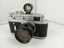 Zorki- 4 Antique Analogue Camera with Jupiter 40.5m Lens and Helios Viewfinder