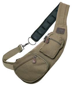 Canvas Crossbody Sling Bag Vintage Olive Drab Green Rothco 2498