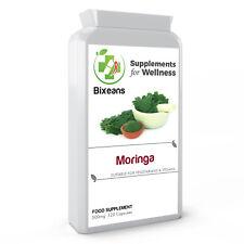 Bixeans® Organic Moringa Oleifer 500mg 120 Capsules Superfood Vegan UK Produced
