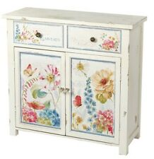 Shabby Cottage Chic Two Drawer Floral Cupboard