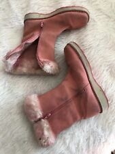 Vintage Timberland Pink Womens Winter Fur Zip Up Boots sz 7.5 90s cold weather