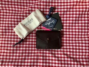 JOULES LEATHER BAILEY COIN PURSE - OXBLOOD