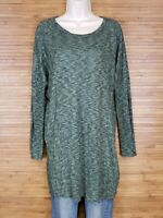 Alya Green Heathered Long Sleeve Tunic Womens Size Small S