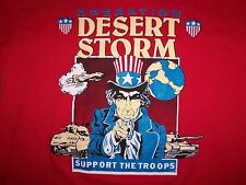 Vintage Operation Desert Storm Support The Troops 50/50 T-Shirt Fits Adult  L