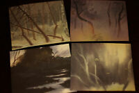 TYRUS WONG Walt Disney Bambi LOT of FOUR Animation Art Concept 1938 1941 2005