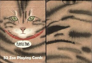 Playful Paws Cat Playing Cards Poker Size Deck WJPC Custom Limited New Sealed