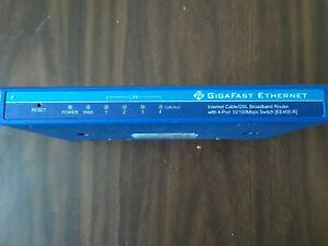 Gigafast Ethernet EE400-R 10/100 Mbps 4-Port Internet Cable/DSLBroadband Router