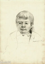 Three-Year-Old Boy drawing by Russian artist S.Pichugin (page from the album)