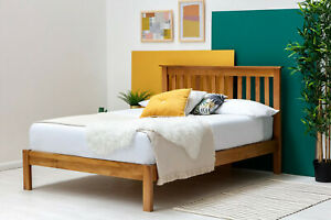Farmhouse Style Solid Oak Wooden Bed Frame Double or King Size    BSD