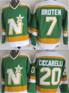 North Stars Neal Broten, Dino Ciccarelli Jersey M, L, XL, 2XL, 3XL