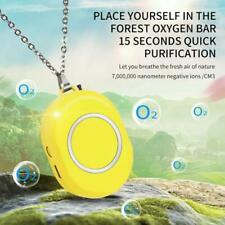 Mini Personal Wearable Air Purifier Necklace Portable USB Negative Ion Generator
