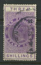 New Zealand 1882 Postal fiscal 3/ violet CDS used