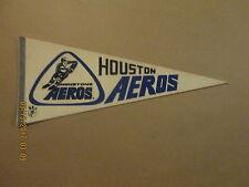 WHA Houston Aeros Vintage Defunct Style #1 Logo Hockey Pennant