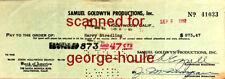 HARRY STRADLING SR - SIGNED -  GOLDWYN -  - CINEMATOGRAPER - AA -MY FAIR LADY