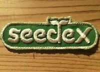 Vintage Seedex Patch Embroidered Green White Farming Sugar Beet Seed Farm