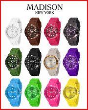 Madison New York Candy Time Original Silikon Uhr Damen Gummi Bunte Farbige Uhren