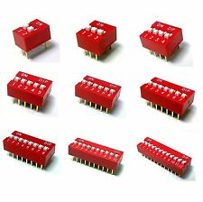 1234567891012 Way DIP DIL Switches PCB Mounting