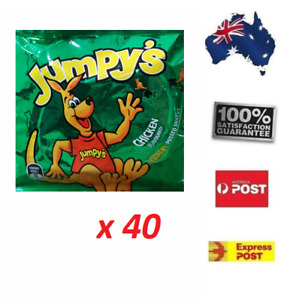 40 x 18Gr Jumpy's Chicken potato Snack pantry FREE SHIPPING Home Office