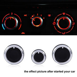 3X Car Air Condition A/C Switch Buttons Control Knobs Cover For VW Golf MK4 New
