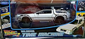 DeLorean Ritorno al Futuro 2FV Back to the Future BTTF Scala 1:24 Die Cast Welly