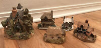 Vintage Lot Of Lilliput Lane Houses/Cottages- 5 Pieces Gables Butcher Saddlers