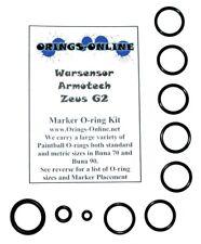 Warsensor Armotech Zeus G2 Paintball Marker O-ring Oring Kit x 2 rebuilds / kits