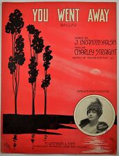 You Went Away Ballad 1918 Vintage Sheet Music Art By Andre De Takacs