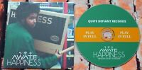 Awate - Happiness CD Album UK Hip Hop Quite Defiant Records 2018