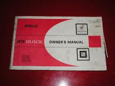 1974 74 BUICK APPOLO OWNERS MANUAL   FREE SHIPPING