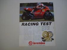 advertising Pubblicità 1992 BREMBO e CAGIVA e EDDIE LAWSON