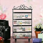 Black 48 Hole Earrings Ear Studs Display Rack Stand Holder Jewelry Organizer New