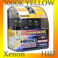 H3 55W GOLDEN YELLOW 3000K XENON HID HALOGEN LIGHT BULBS - FOG LIGHT