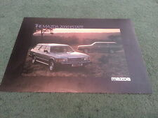 Janvier 1980 MAZDA 929 2000 Estate-Royaume-Uni Couleur Notice Brochure