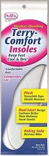 SOCKLESS TERRY-COMFORT INSOLES BY PEDIFIX 1 PAIR WEAR SHOES WITHOUT SOCKS #P220