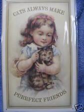 Cats Kittens Purrfect Friends Cute Metal tin Sign