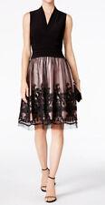 SL Fashions New Illusion Soutache-Trim Party Dress Size 12 MSRP $109 #GN 762