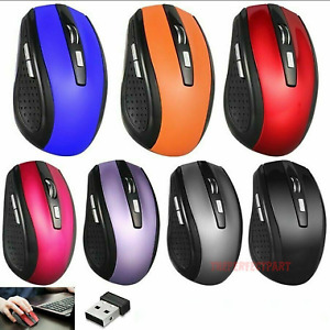 2.4ghz wireless optical mouse mouseand USB receiver for personal computer laptop