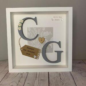 Personalised Wedding Gift Engagement, Anniversary Framed Keepsake Wooden