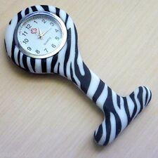 """Nurses Fob Watch Funky New Design Quality Watch Australian Stock """"Zebra Pattern"""""""
