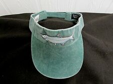 TARPON Fishing Visor Embroidered Fish GREEN One Size Adjustable FISH Cap NEW AF6