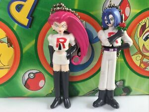 Pokemon JAMES JESSIE set keychain TEAM ROCKET clip figure toy USA Seller (plush)