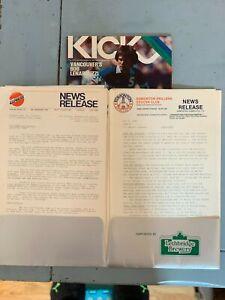 1980 Edmonton Drillers vs. Detroit Express NASL Soccer Program + Press Kit #FWIL