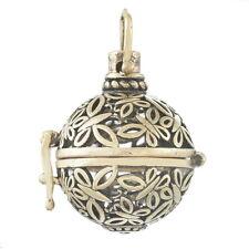 5 Pendentif Papillon Cage de Bali Bola Mexicain Pour Bille d'harmonie Bronze